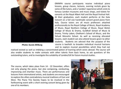 Piano Trio Society (PTS): Newsletter - Autumn 2016