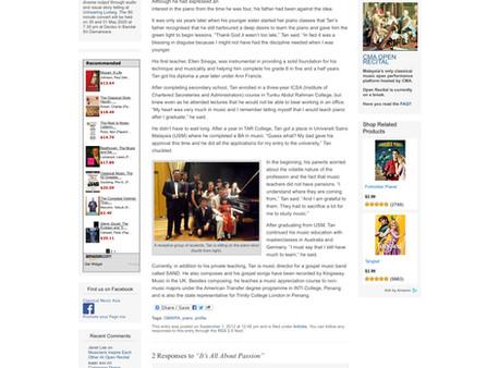 Classical Music Asia - 1st September 2012