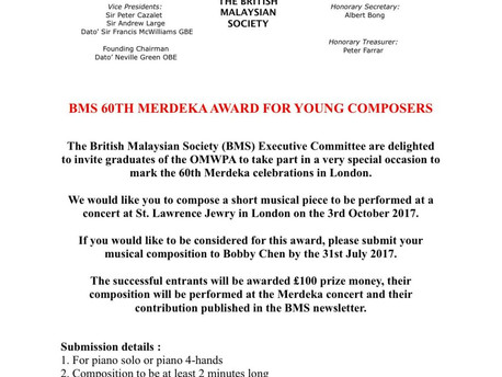 BMS 60th Merdeka Award for Young Composers (The British Malaysian Society)