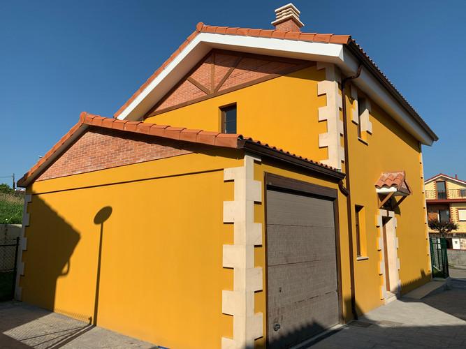 Ladrillo rústico en fachadas