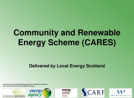 Grant from Scottish Government Community & Renewable Energy Scheme and loan from Energy Saving Trust