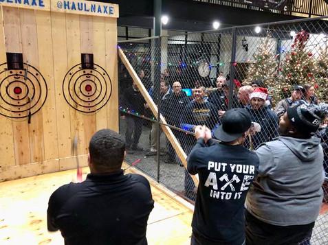 Indoor Axe Throwing Event