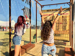 Women Axe Throwing
