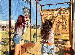 Women Throwing Axes