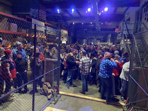 Indoor Axe throwing Winter event