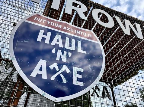 Haul N Axe Logo on the Cage