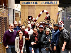 Staff Holiday Party Axe Throwing