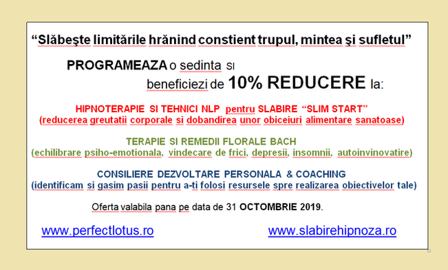 10%  REDUCERE in weekendul Body Mind Spirit Expo,                                               4-6