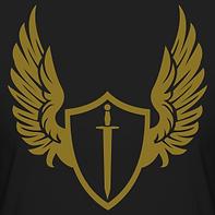 gold-print-sword-crest-vintage-designer-
