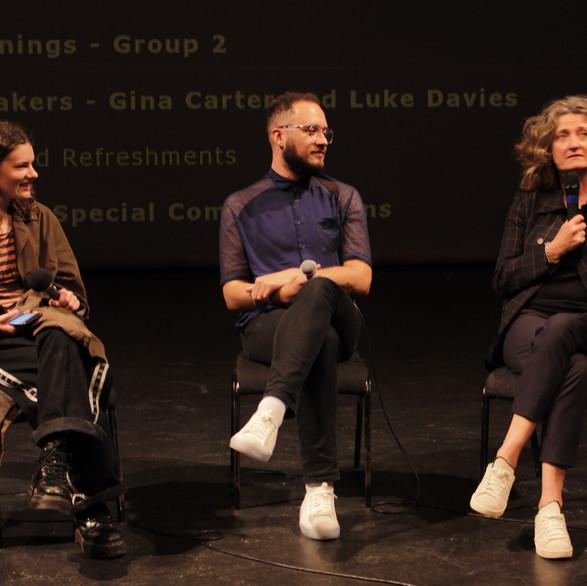 Claudia Hampton, Luke Davies and Gina Carter