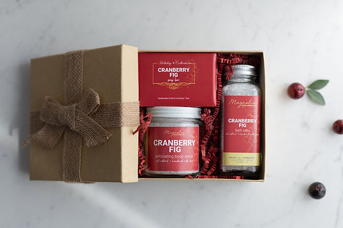 Cranberry Fig Spa Gift Set