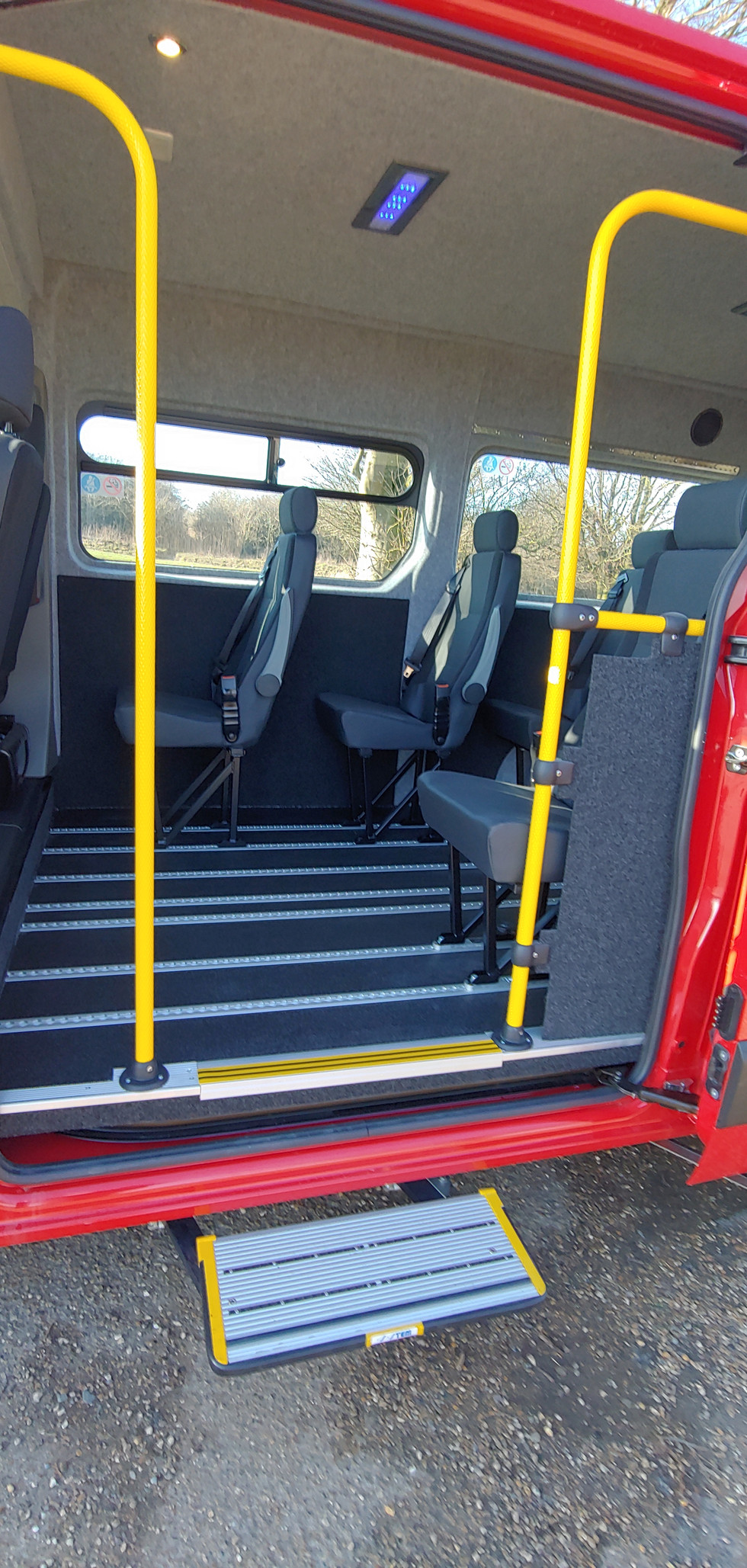 Dor operated step to Warnerbus conversion