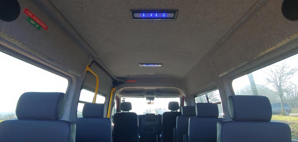 Interior of IVA tested M1 minibus by Warnerbus