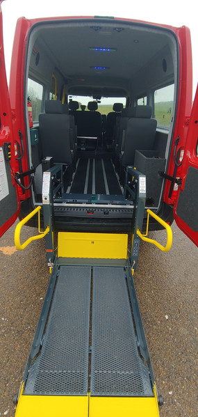 Lift deployed Renault Master Wheelchair Accessible Minibus
