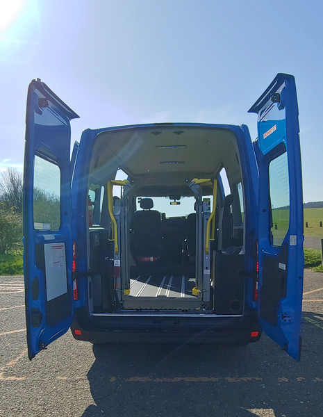 Rear doors open Wheelchair Accessible Warnerbuis conversion