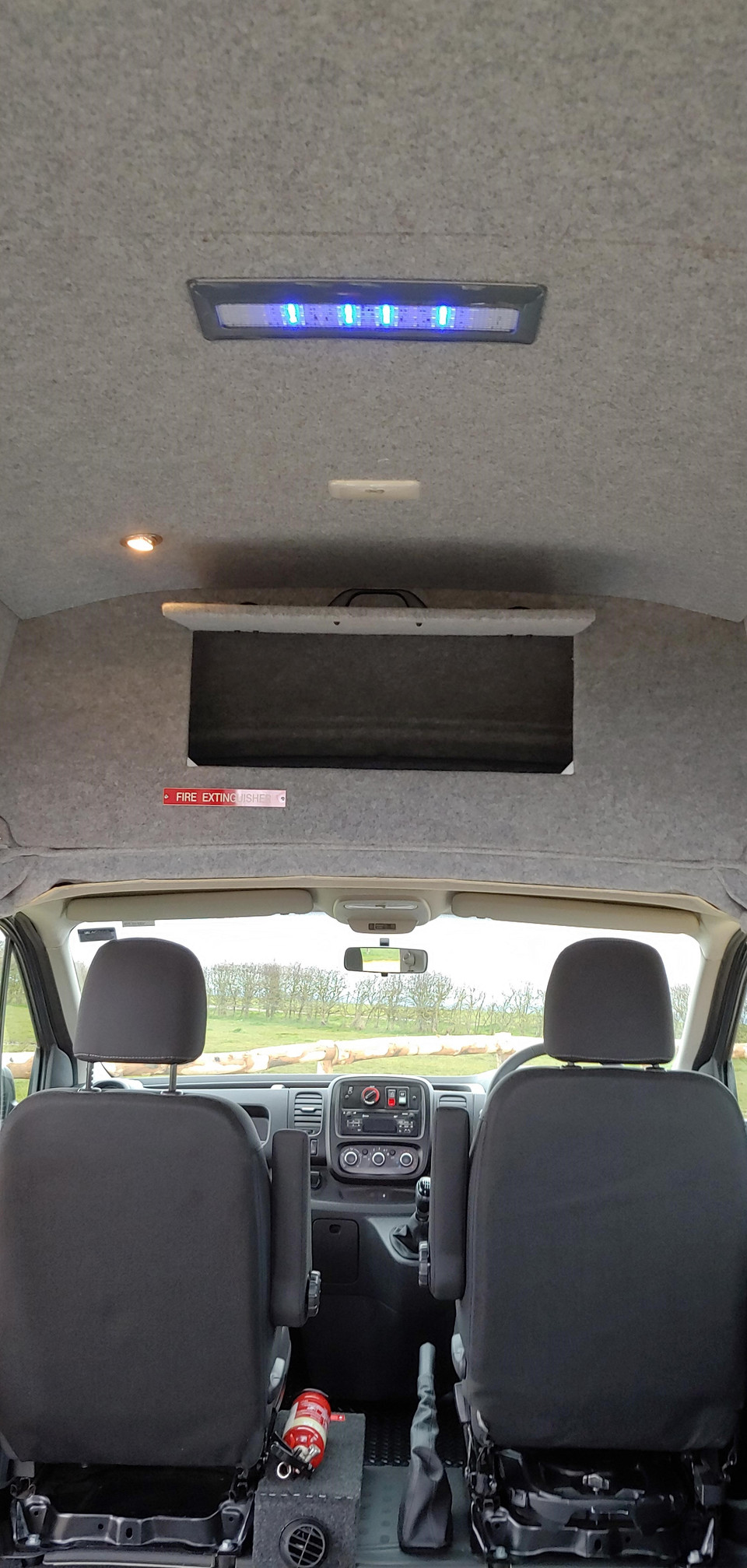 Storage cupboard fitted to Renault Trafic