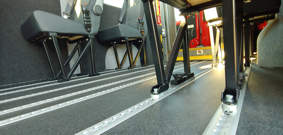 Strengthened Braunability floor Warnerbus DPV