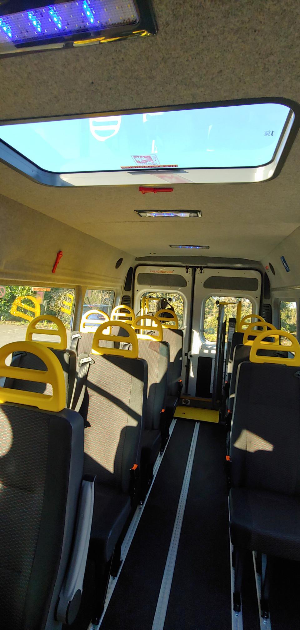 Citroen Relay Minibus seating