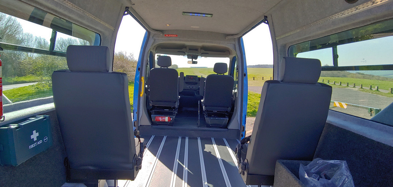 Seats deployed in Renault Master Minibus