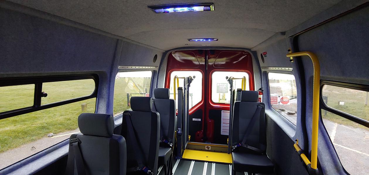 Saloon rearward Renat Master Wheelchair Accessible Minibus conversion