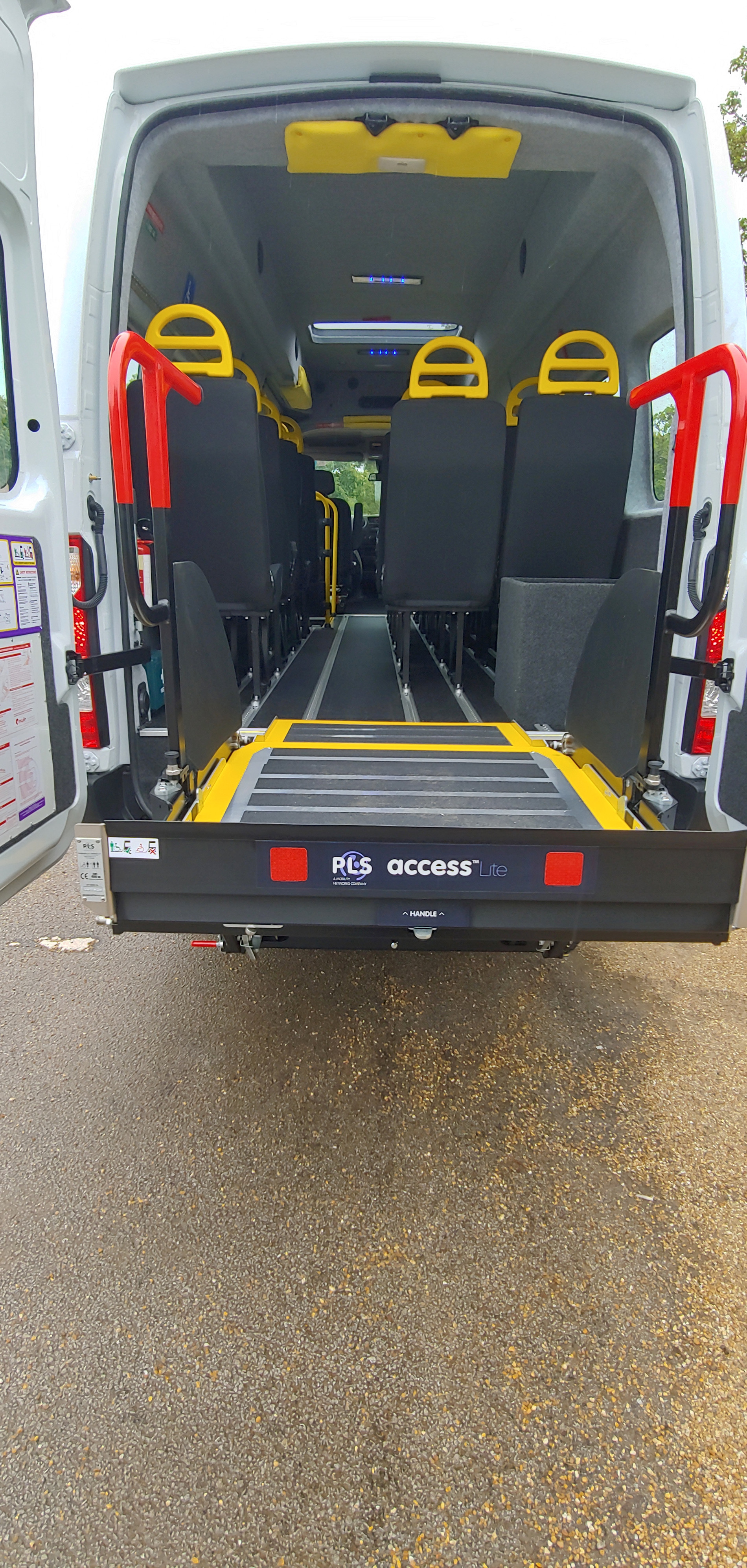 PLS Tail lift on Warnerbus conversion