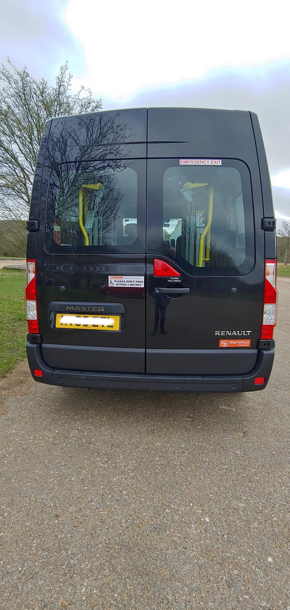 Rear elevation Renault Master Minibus