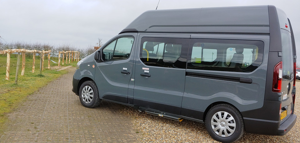 Nearside View of Warnerbus Renault Trafic conversion