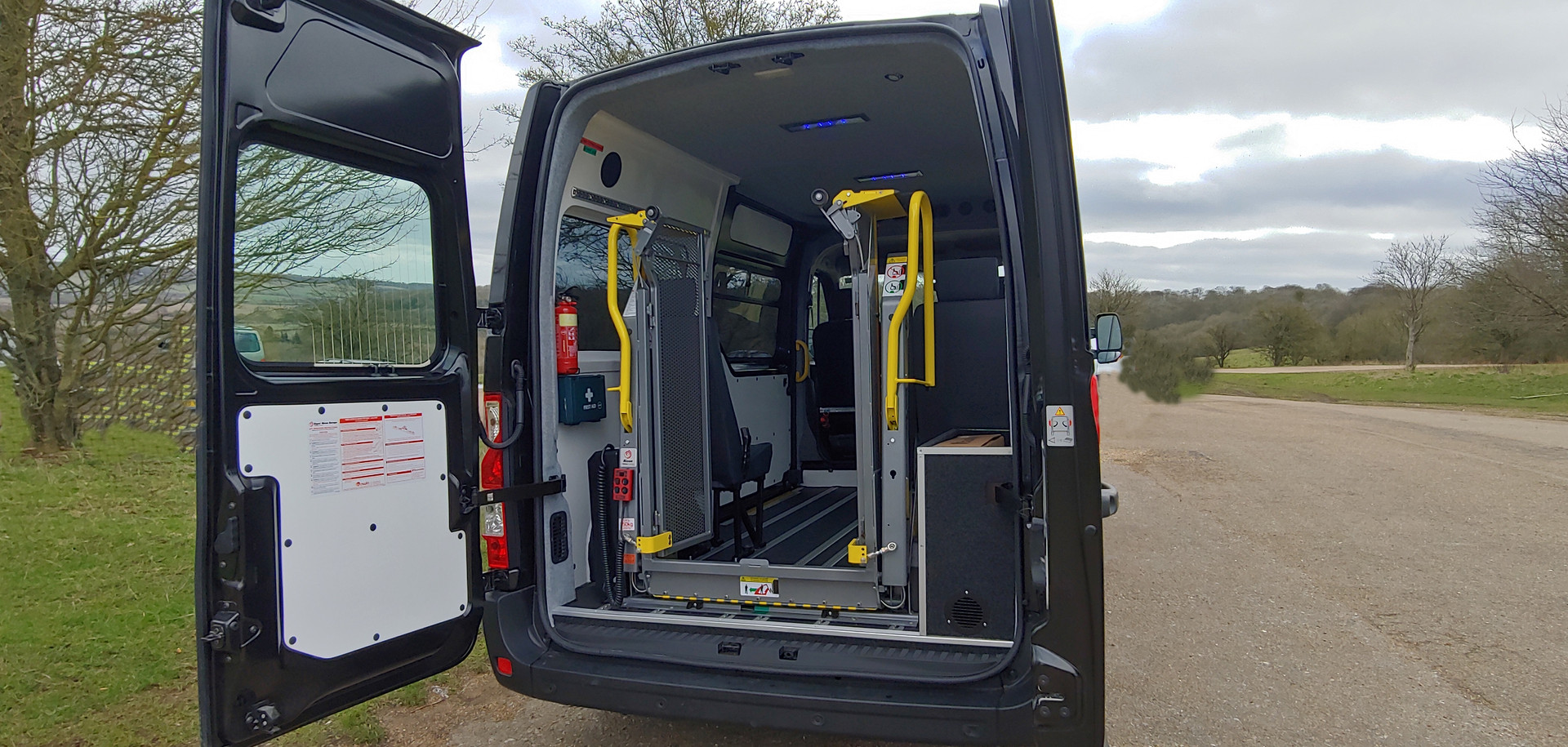 Rear view of Renault Master Wheelchair Accessible Minibus