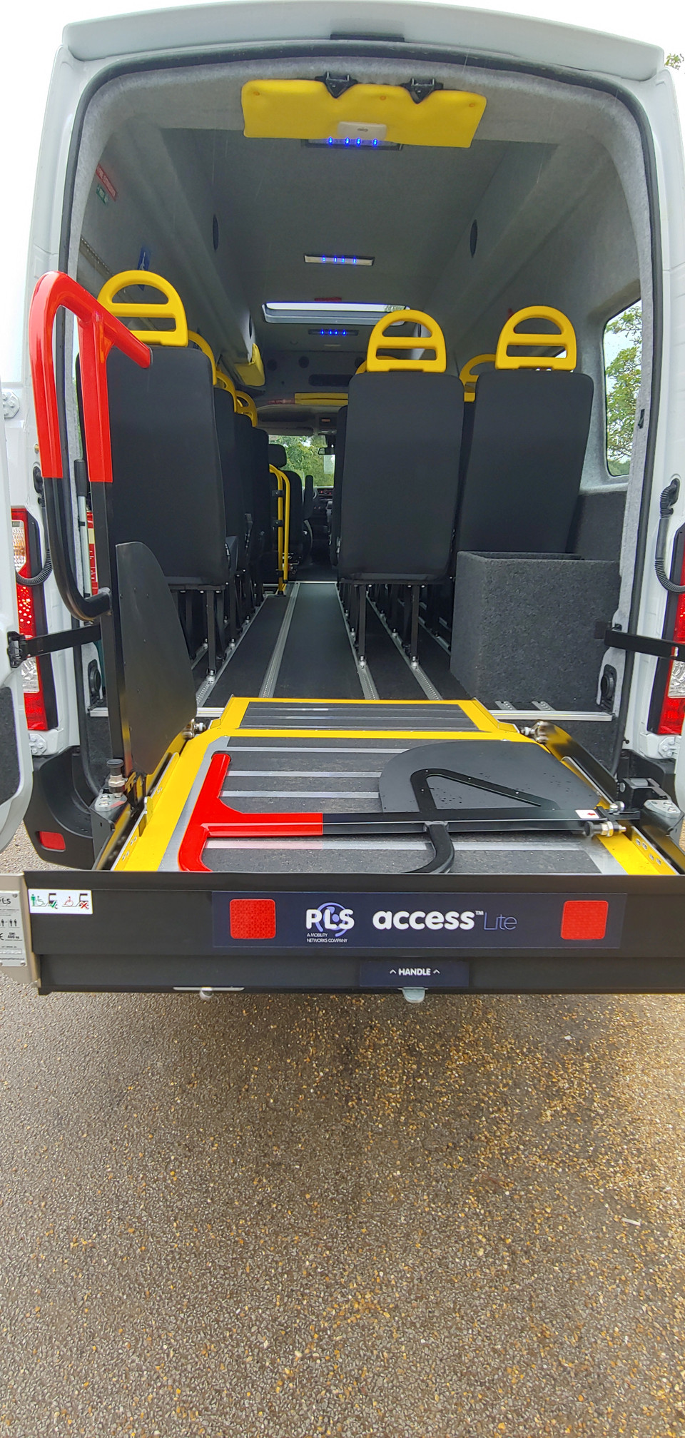 Tail lift fitted to Wheelchair Accessible Minibus conversion