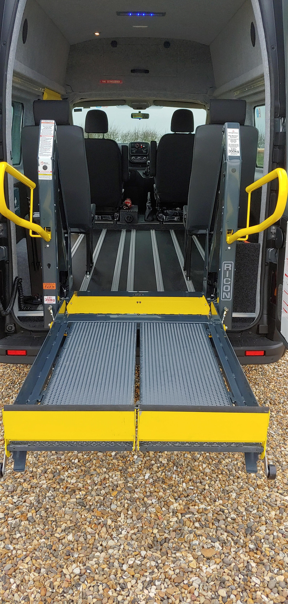 Rison tail-lift floor level on Renault Trafic Minibus conversion