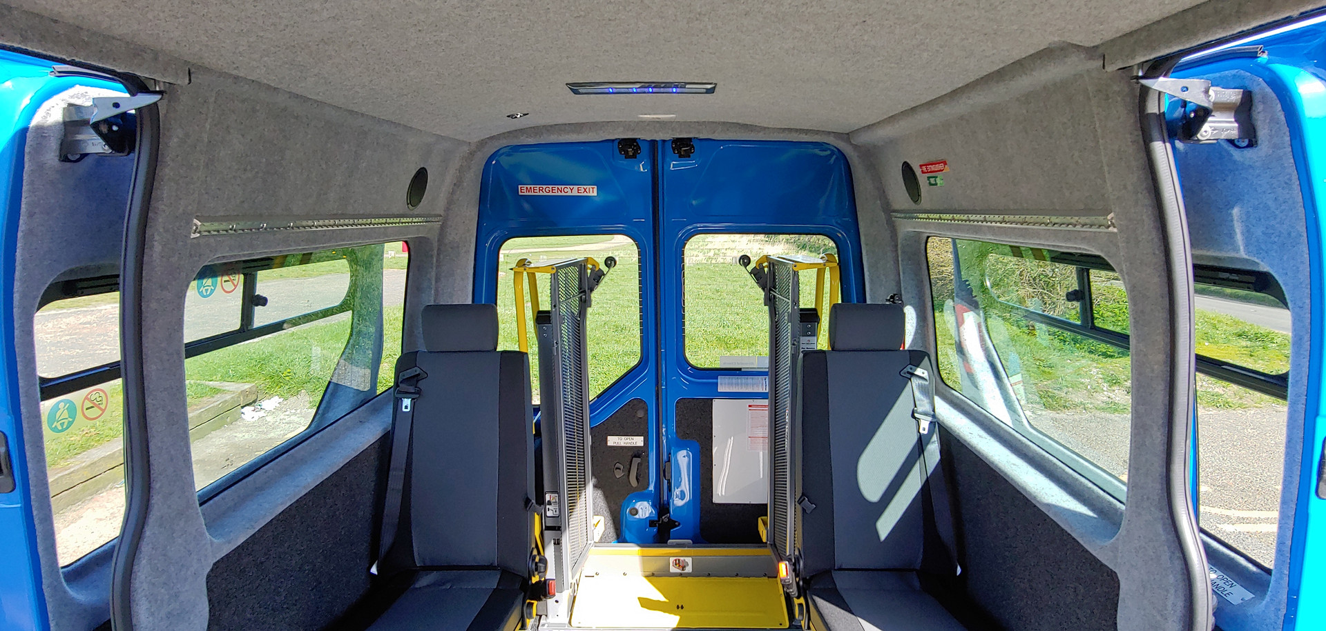 Internal rearward view Warnerbus conversion