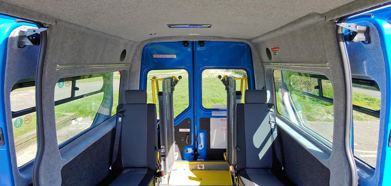 Internal rearward view Warnerbus conversion