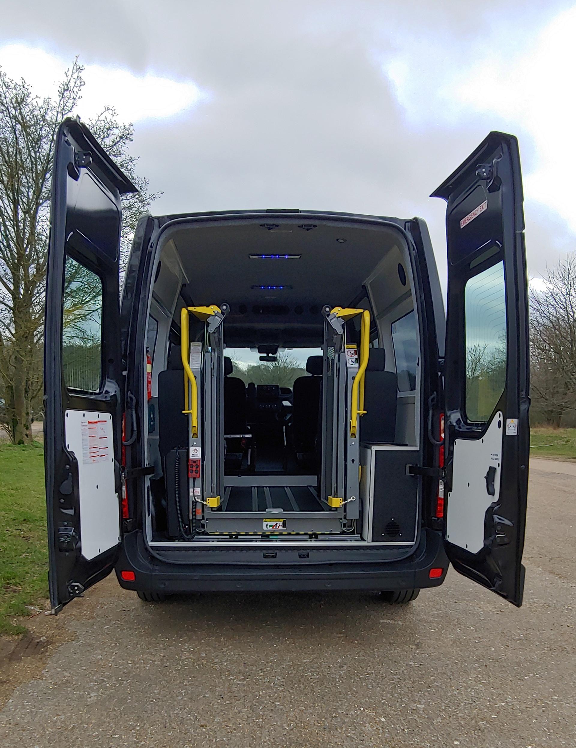 Rear elevation Renault Master Wheelchair Accessible Minibus