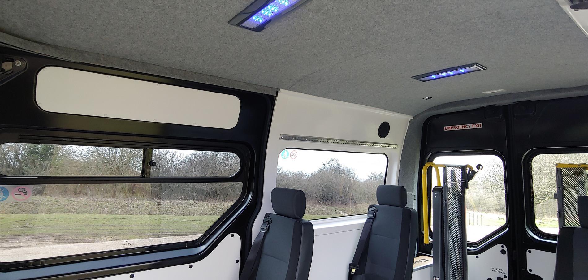 LED lighting in Warnerbus Minibus conversion