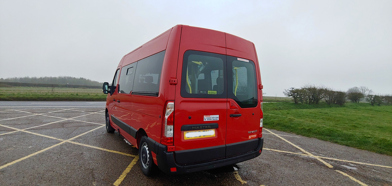 Rear nearside Wheelchair Accessible Renault Master Conversion by Warnerbus