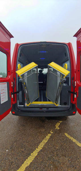 Lift deploying Renault Master Wheelchair Accessible Minibus