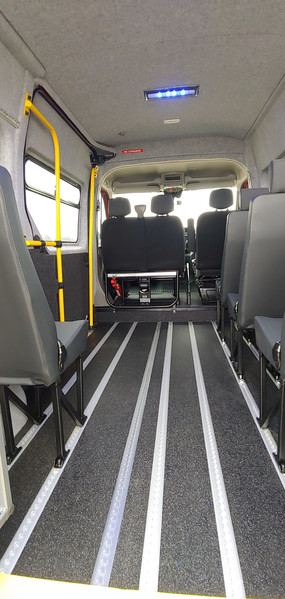 Renault Master Wheelchair Acessible Minibus Saloon forward view