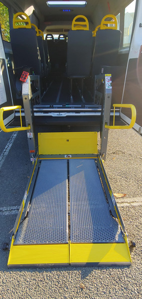 Tail lift fitted to Warnerbus Minibus conversion