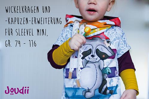 """Wickelkragen und -kapuzen-Erweiterung für """"Sleevel Mini"""", Gr. 74-116"""