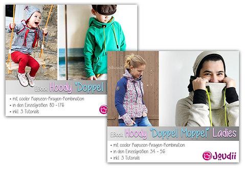 """Kombi-EBook Hoody """"Doppel Moppel"""" Kids & Ladies"""