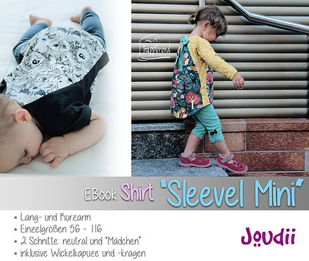 """EBook Shirt """"Sleevel Mini"""", 2 Schnitte, je Gr. 56 - 116"""