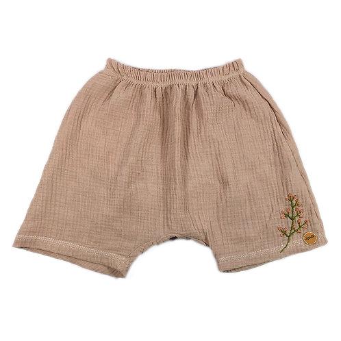Handbestickte Shorts aus Musselin, Gr. 128