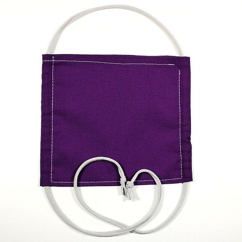 Maske lila mit grauem Bändel | Teens und Erwachsene
