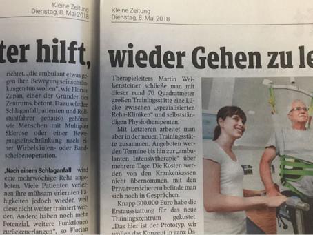 Die Kleine Zeitung berichtet über HOME4MOTION Eröffnung in Graz