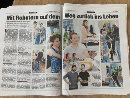 Mit Robotern auf dem Weg zurück ins Leben - Kronen Zeitung