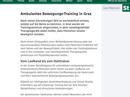 Der ORF-Steiermark berichtet: Ambulantes Bewegungstraining in Graz erzielt sensationalle Erfolge!