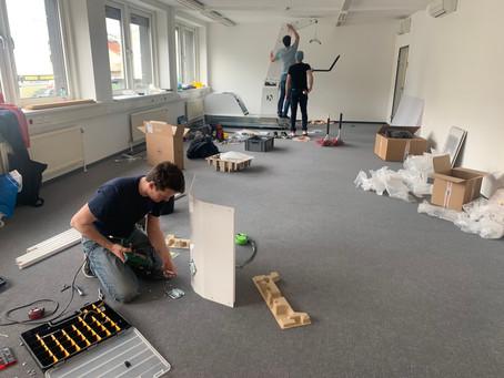 Der Aufbau in Wien schreitet voran!