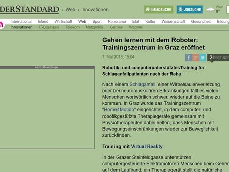 Gehen lernen mit dem Roboter: Trainingszentrum in Graz eröffnet