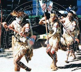 Gabrieleno Tongva Men Dancing