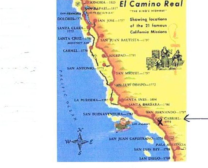 Map of El Camino Real